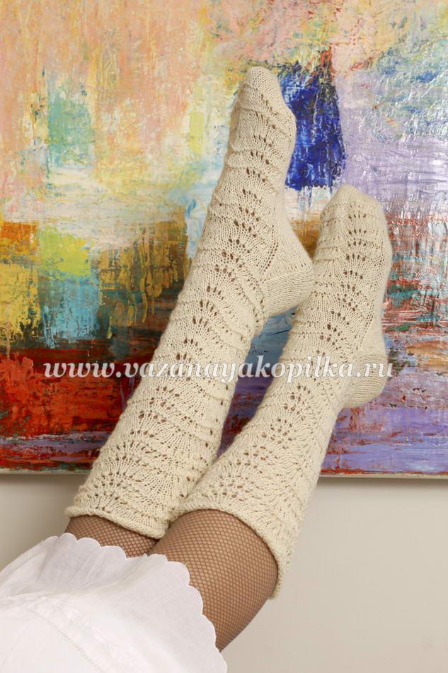 Подробные уроки вязания носков
